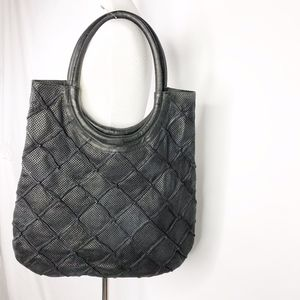 ANTHRO Illona Lattice Shoulder Bag Black  NWT